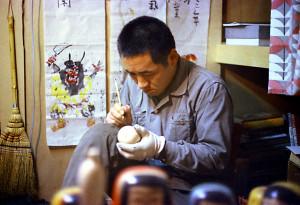 描彩する佐藤英太郎 昭和46年