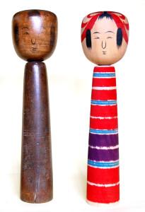 左:西山辨之助古作 右:渡辺恒彦昭和52年作