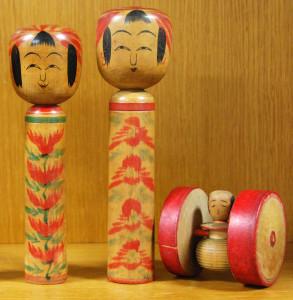 左2本:昭和18年、喜代治の木地車