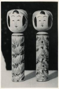 米浪庄弌旧蔵 昭和4年作の極初期喜代治 〈こけし人形図集〉図版