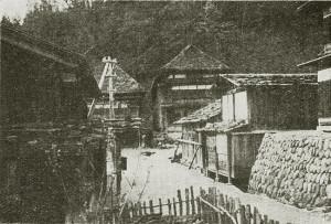 戦前の小安温泉 (橘文策撮影)