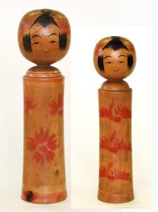 草書体時代の竹雄 〔27cm、19.7cm(昭和5年頃)(深沢コレクション)〕 左は〈愛蔵図譜〉の左側の図のモデル