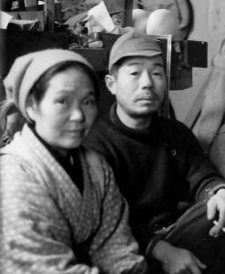岩本芳蔵夫妻:昭和34年12月(山本侘介撮影)