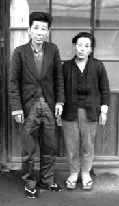 佐久間義雄(二代目虎吉)とアサ子夫妻 昭和40年