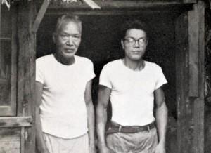 右:鎌田孝市 左:鎌田文市 昭和37年 露木昶撮影