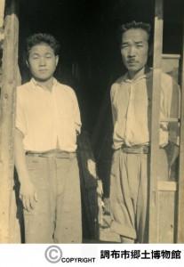左:我妻市助 右:佐藤好秋  撮影:加藤文成