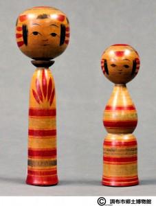 〔右より 16.8cm、24.0cm(大正末期)(調布市郷土博物館)〕 加藤文成コレクション