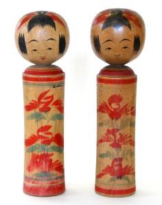 〔右より 24.3cm、24.1cm(昭和6年頃)(日本こけし館)〕 名和コレクション