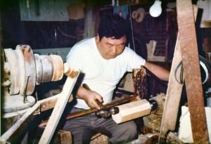 作業場の秋山一雄 昭和44年