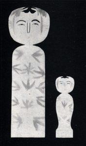 岡崎栄蔵の切り絵に施した描彩