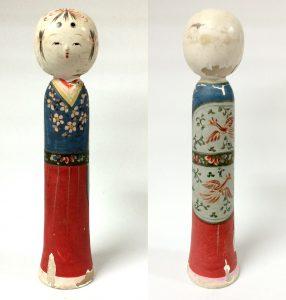 江戸期に京都で作られたロクロ製木人形(箕輪新一蔵)