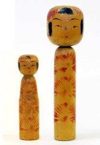 〔右より 20.6cm、12.8cm(昭和15年)(日本こけし館)〕 深沢コレクション
