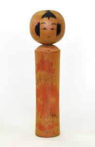 〔21.5cm(昭和8年頃)(日本こけし館) 新兵衛名義 深沢コレクション